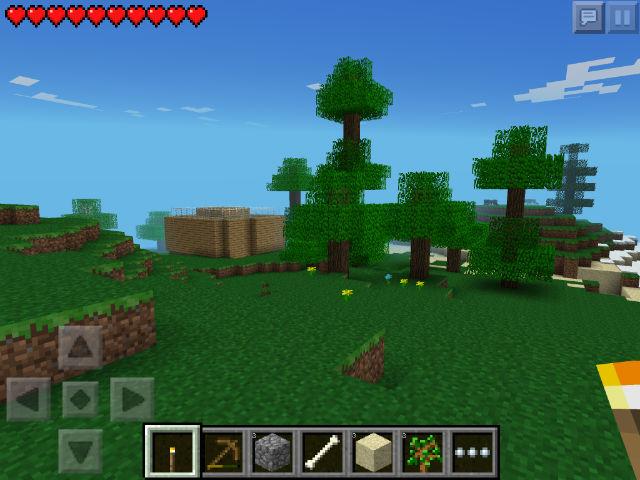 интерфейс Minecraft для айфона