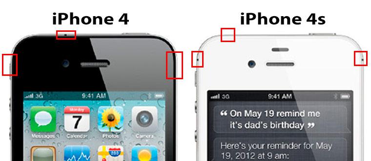различия айфон 4