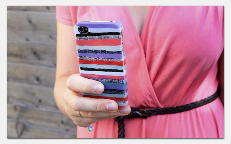 как украсить прозрачный чехол для телефона своими руками