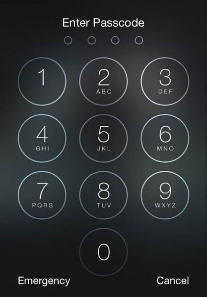 Сброс ключа на экране блокировки