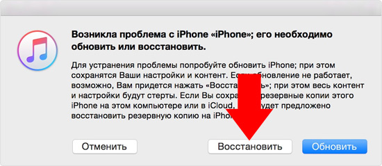сброс пароля apple ID
