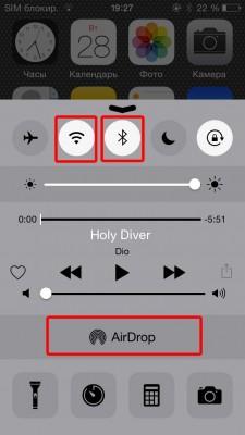 AirDrop передача файлов