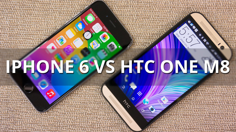iPhone 6 vs HTC One M8