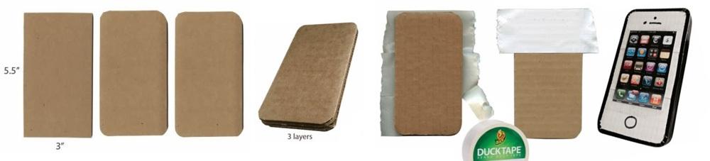 Изготовление бумажного Айфона 4