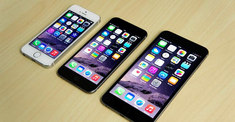 iPhone 6 и 6 Plus по сравнению с пятёркой
