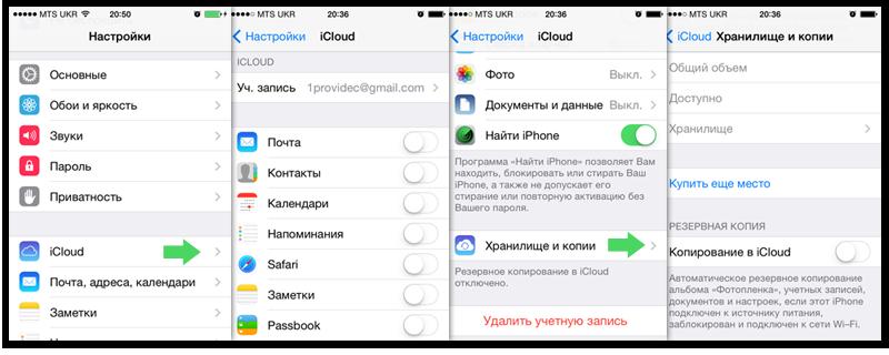Обзор настроек iCloud
